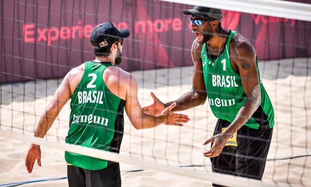 Bruno Schmidt e Evandro Cancún Hub Circuito Mundial de vôlei de praia