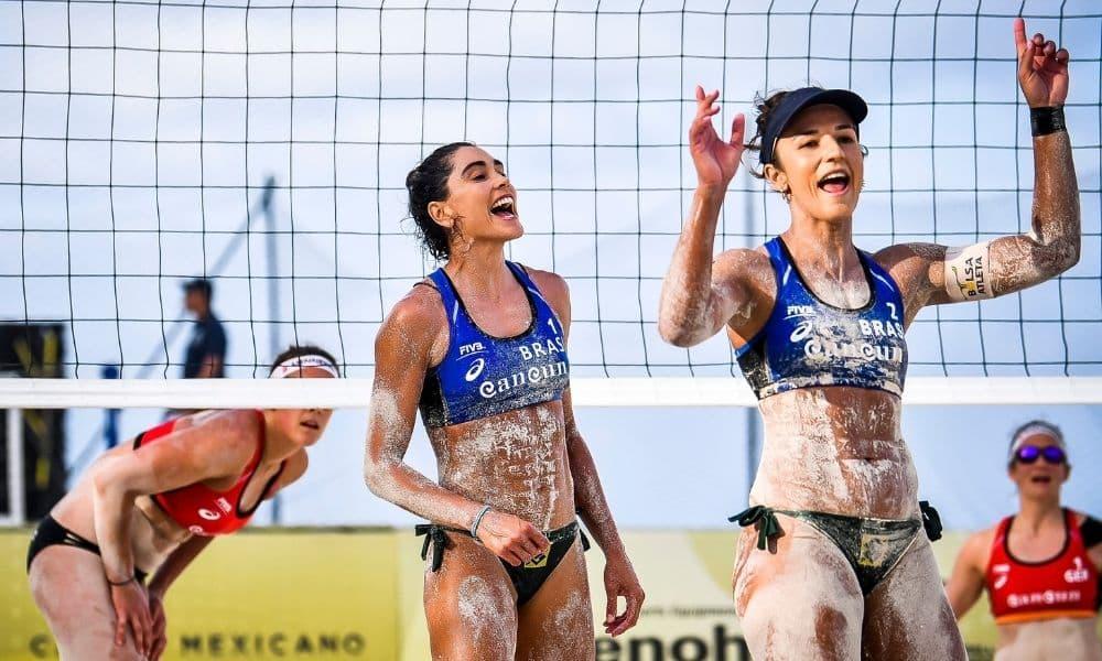 Carol Solberg e Bárbara Seixas Cancún Hub Circuito Mundial de vôlei de praia