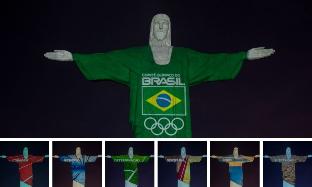 Cristo Iluminado faltam 100 dias para os Jogos Olímpicos de Tóquio
