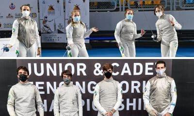 Equipes masculina e feminina de florete juvenil - Mundial cadete e juvenil de esgrima