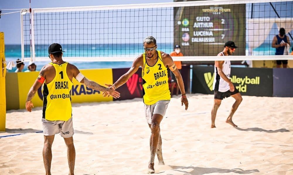 Guto e Arthur Mariano Cancún Hub Circuito Mundial de vôlei de praia