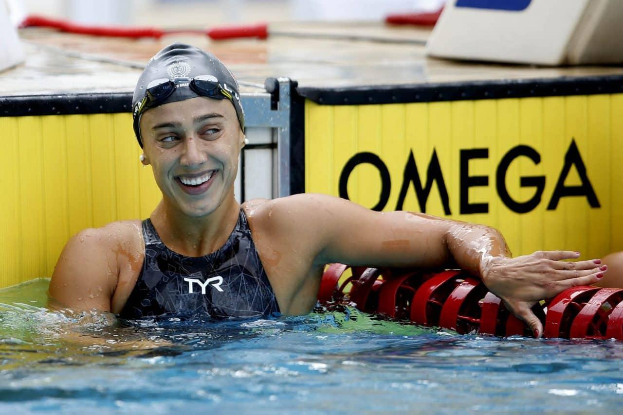Larissa Oliveira - natação - 4x100m feminino - Olimpíada de Tóquio 2020