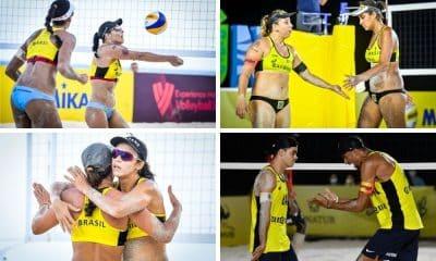 Quatro duplas brasileiras nas quartas de final do Cancún Hub no Circuito Mundial de vôlei de praia