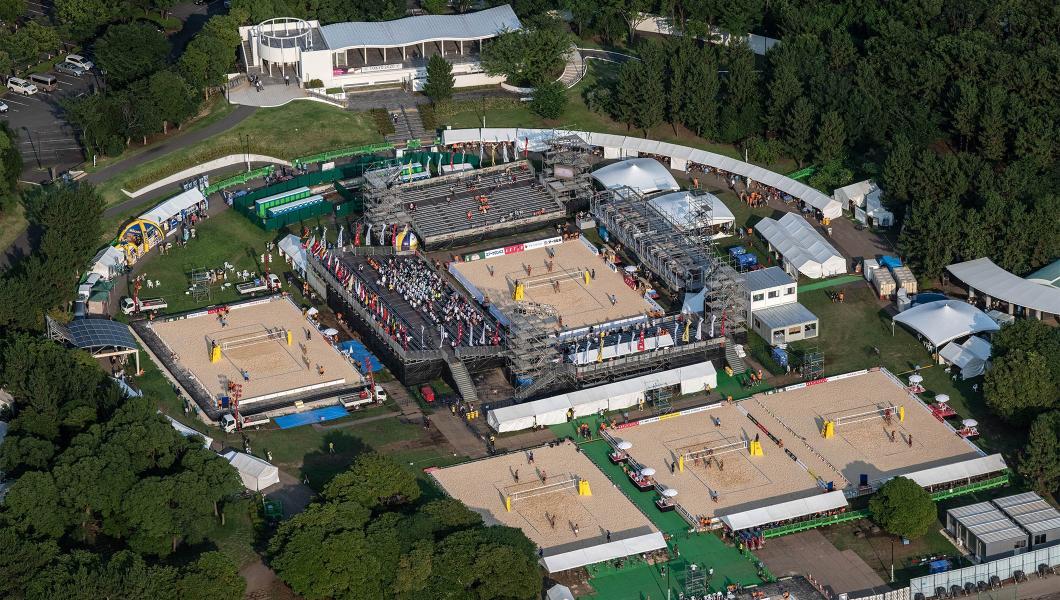 Arena onde vão ser realizados os jogos de vôlei de praia