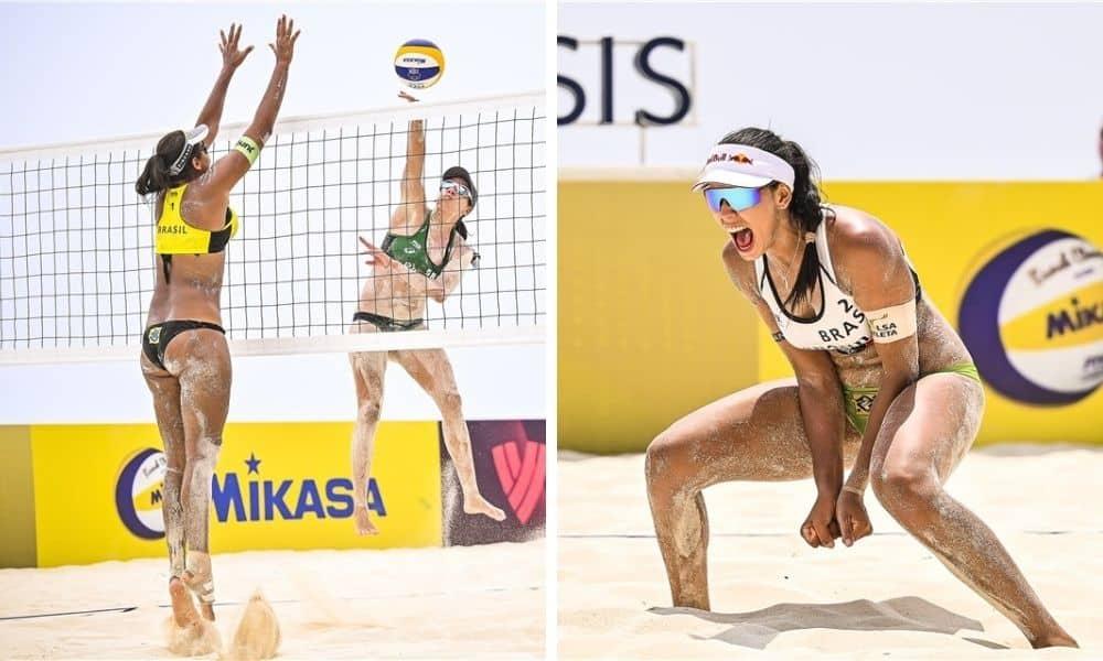 Taiana Talita Agatha Duda semifinal em Cancún Circuito Mundial de vôlei de praia