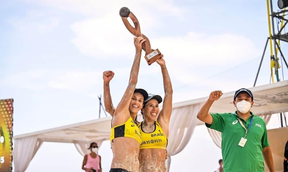Talita e Taiana Cancún Hub Circuito Mundial de vôlei de praia