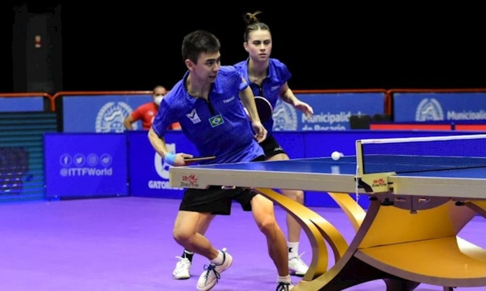 Vitor Ishiy e Bruna Takahashi Pré-Olímpico Latino-Americano de duplas mistas tênis de mesa