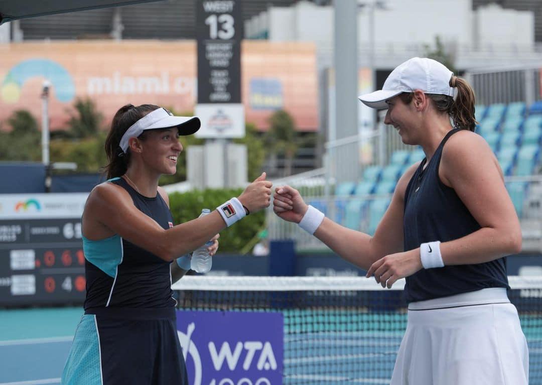 Luisa Stefani Hayley carter WTA 1000 Miami duplas