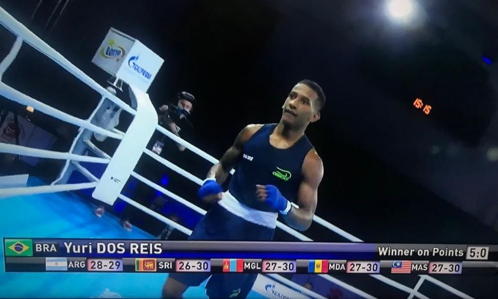 Yuri dos Reis sobrinho de Esquiva e Yamaguchi Falcão está nas quartas do Mundial da Juventude de boxe