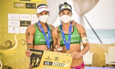 ágatha e duda medalha de bronze cancún hub circuito mundial de vôlei de praia