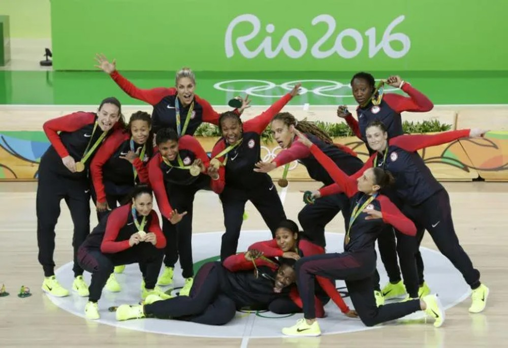 Basquete Seleção feminina dos EUA Rio 2016 Reprodução