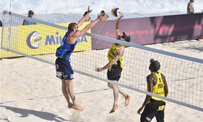 bruno schmidt volta ao circuito mundial de vôlei de praia com vitória ao lado do parceiro evandro