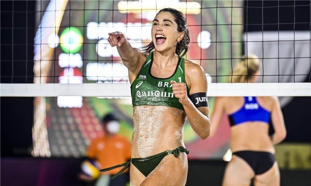 carol solberg parceira de barbara seixas cancun hub circuito mundial de vôlei de praia