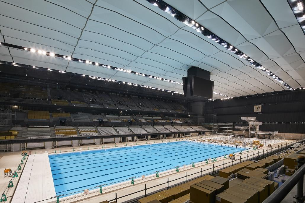 centro aquático Tóquio 2020 natação