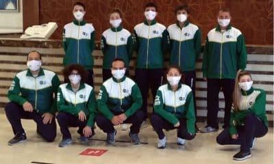 equipe brasileira de sabre no mundial cadete e juvenil de esgrima