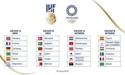 grupos do handebol nos jogos olímpicos de tóquio-2020