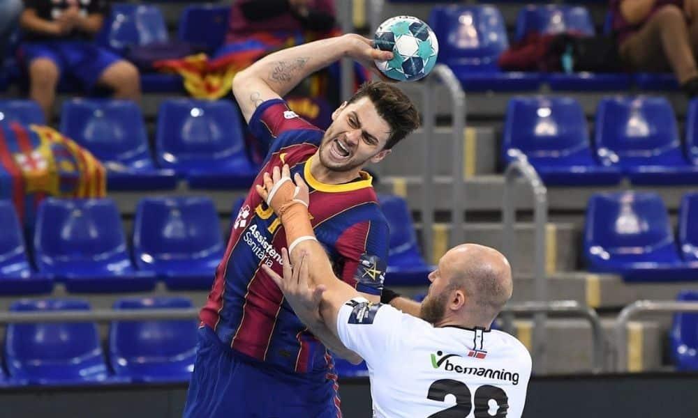 haniel langaro barcelona x elverum champions league de handebol masculino