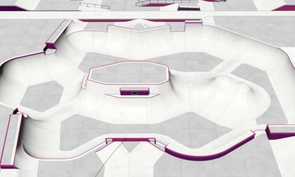 pista de skate park de tóquio-2020