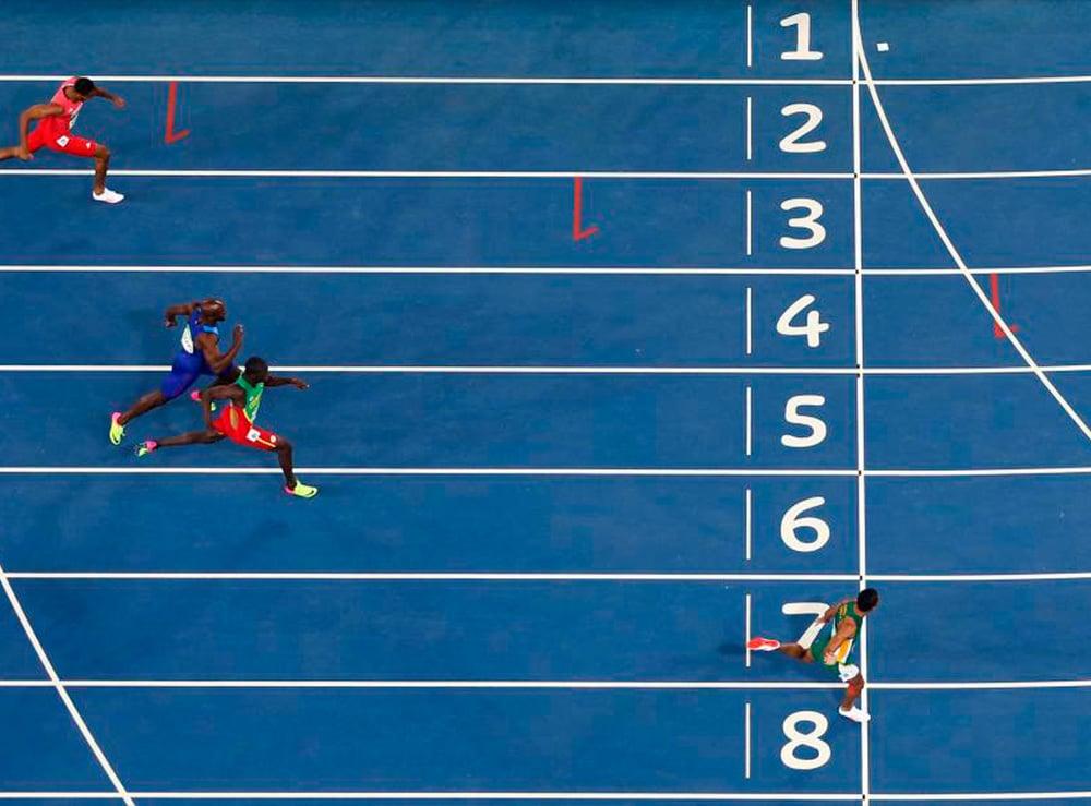 Chegada dos 400m na Rio-2016