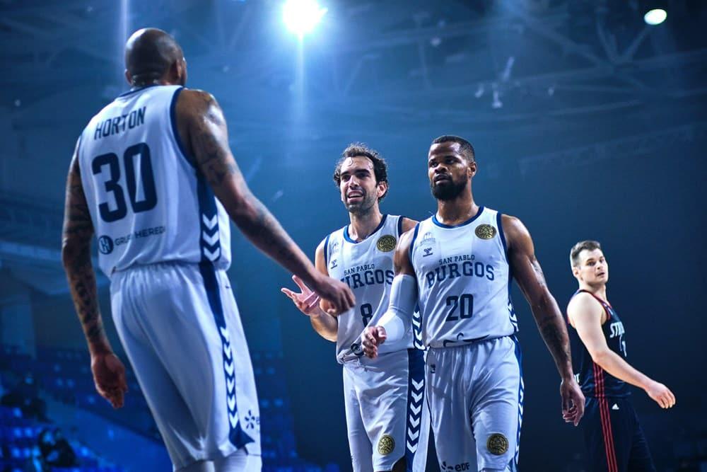 O armador Vitor Benite foi um dos cestinhas na vitória do San Pablo Burgos sobre o Strasbourg, válida pela semifinal da Champions League de basquete