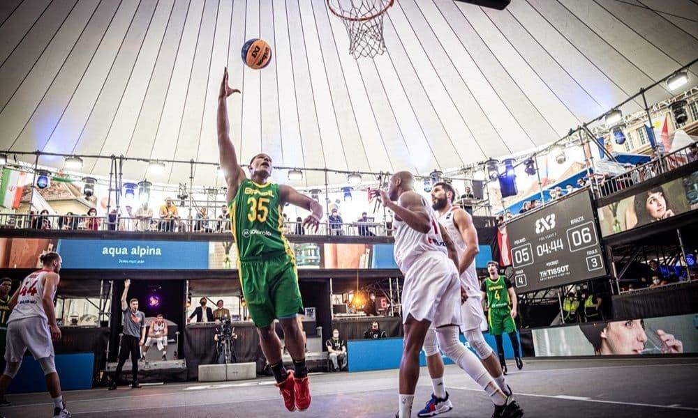 Brasil x Polônia Jonatas Mello Pré-Olímpico de basquete 3x3