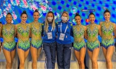 Conjunto brasileiro - Natália Gaudio - Bárbara Domingos - Copa do Mundo de ginástica rítmica