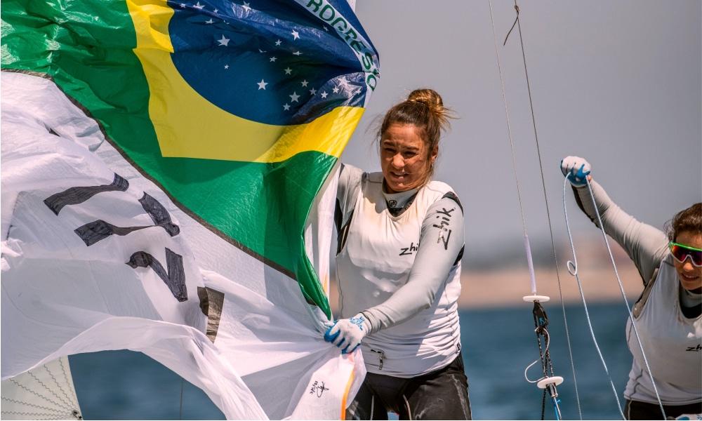 Fernanda Oliveira e Ana Barbachan -Henrique Haddad e Bruno Bethlem - Europeu de 470