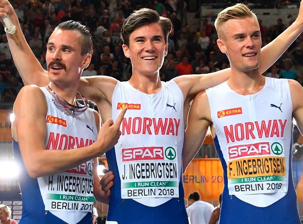 Henrik, Jakob e Filip Ingebrigtsen