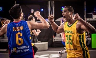 Jonatas Mello Brasil x Mongólia Pré-Olímpico de basquete 3x3