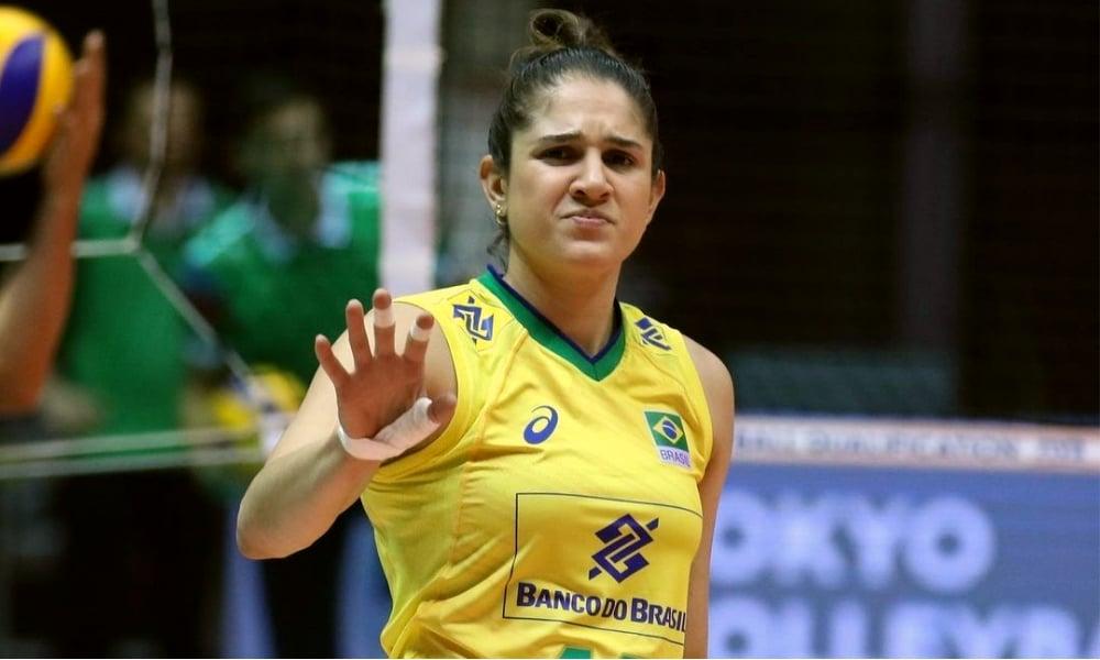 Natália Zílio Pereira- seleção brasileira de vôlei feminino -Jogos Olímpicos de Tóquio 2020 - Olimpíada- Liga das Nações