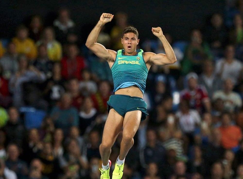 Thiago Braz. salto com vara Jogos Olímpicos de Tóquio