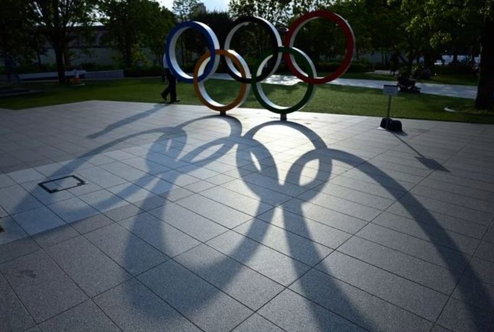 Tóquio anéis olímpicos