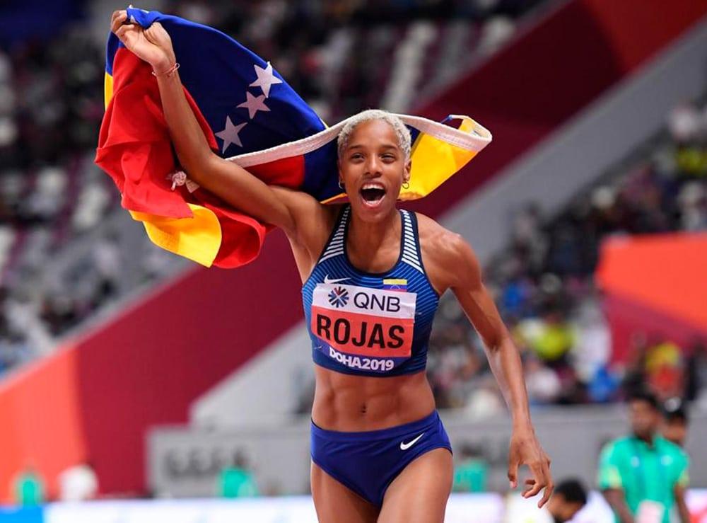 Yulimar Rojas no salto triplo feminino