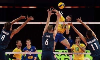 Flavio Brasil Estados Unidos Liga das Nações de vôlei
