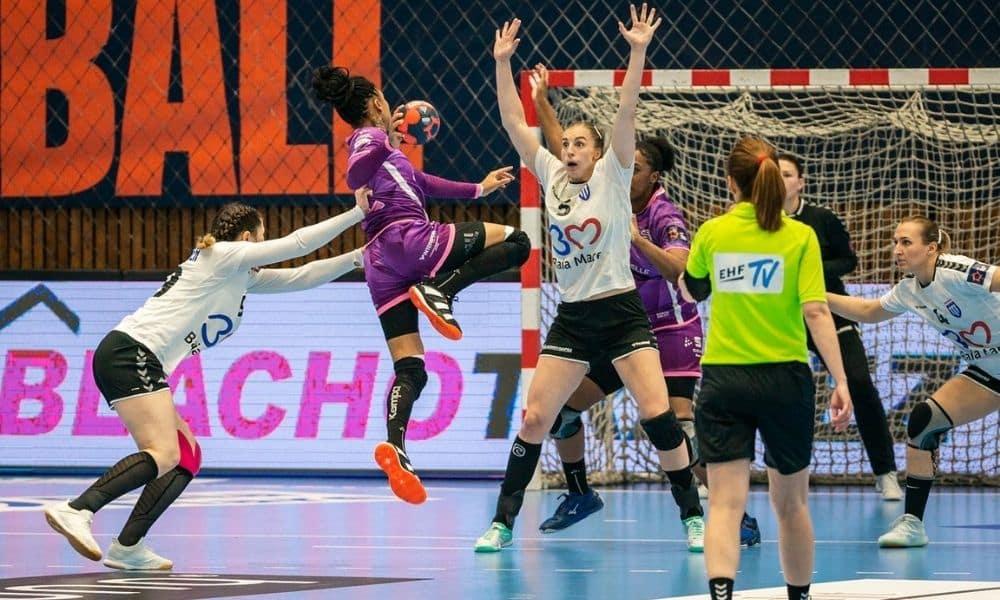 bruna de paula nantes atlantique x minaur baia mare semifinal da champions league de handebol feminino