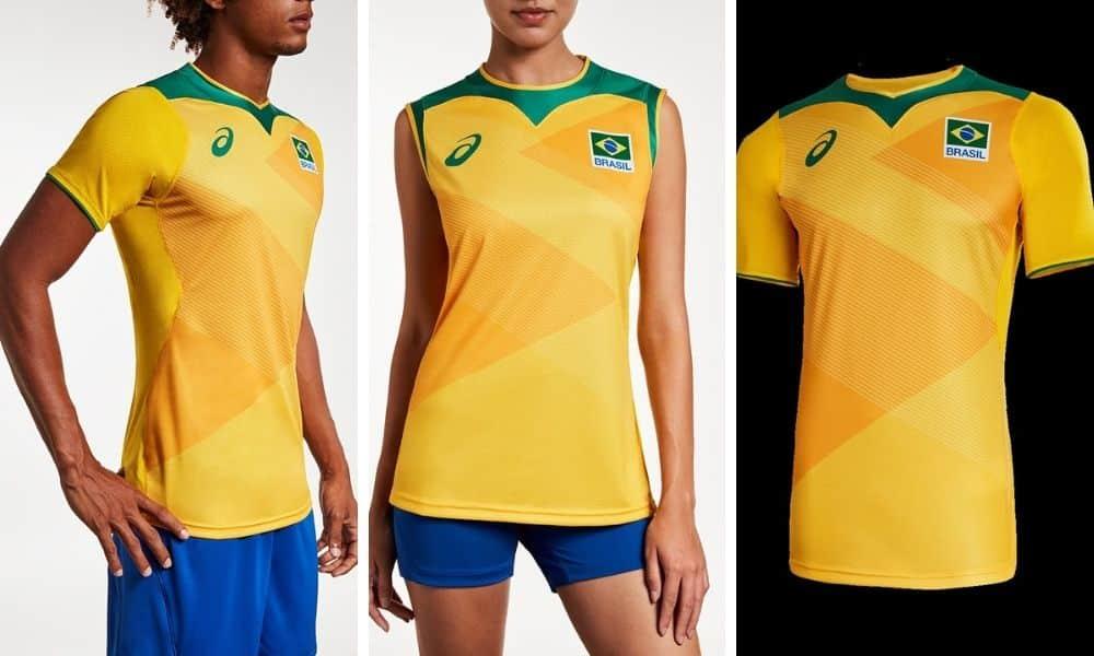 uniformes da seleção brasileira masculina e feminina de vôlei nos jogos olímpicos de tóquio