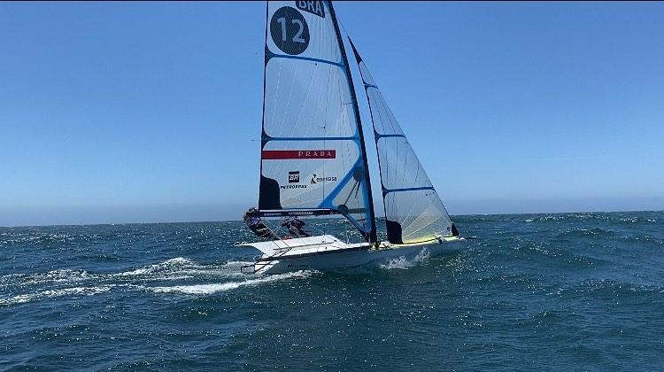 Martine Grael e Kahena Kunze - Campeãs olímpicas, Martine Grael e Kahena Kunze venceram uma regata e subiram seis posições na classificação da Semana Internacional de Vela de Cascais