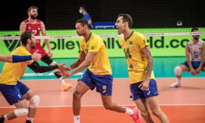 Brasil e Sérvia - Liga das Nações masculina