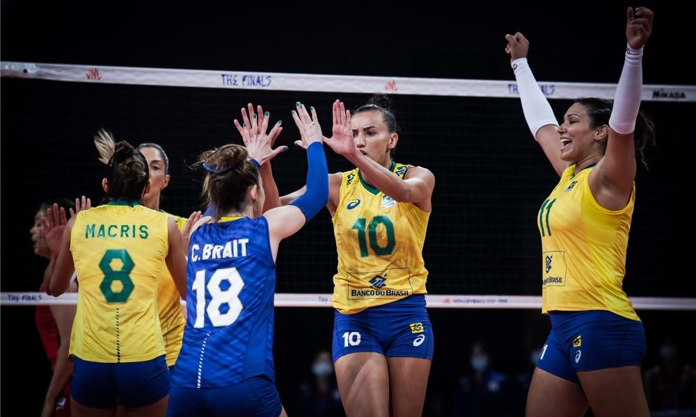 Brasil e Japão - Semifinal da Liga das Nações feminina