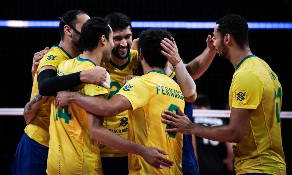 Brasil e França - Semifinal Liga das Nações masculina