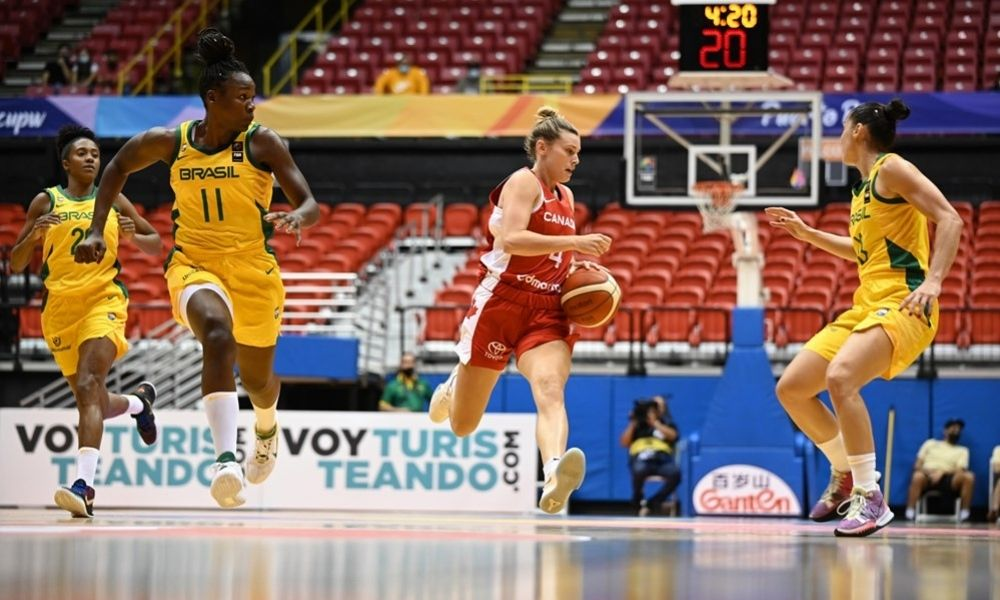 Clarissa Brasil x Canadá Americup de basquete feminino
