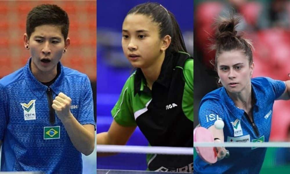 equipe feminina de tênis de mesa