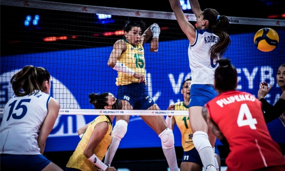 Brasil x Rússia - Liga das Nações feminina