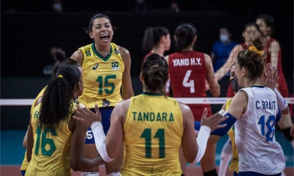 Brasil x Polônia - Liga das Nações feminina