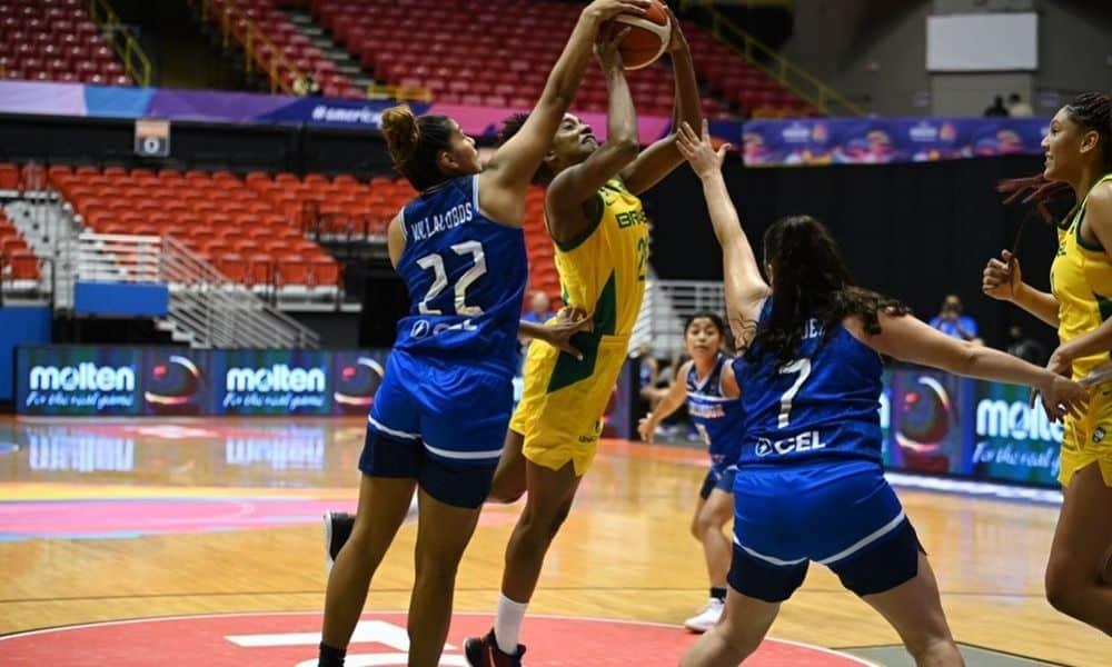 Acompanhe ao vivo: Brasil x Colômbia - Americup de basquete feminino