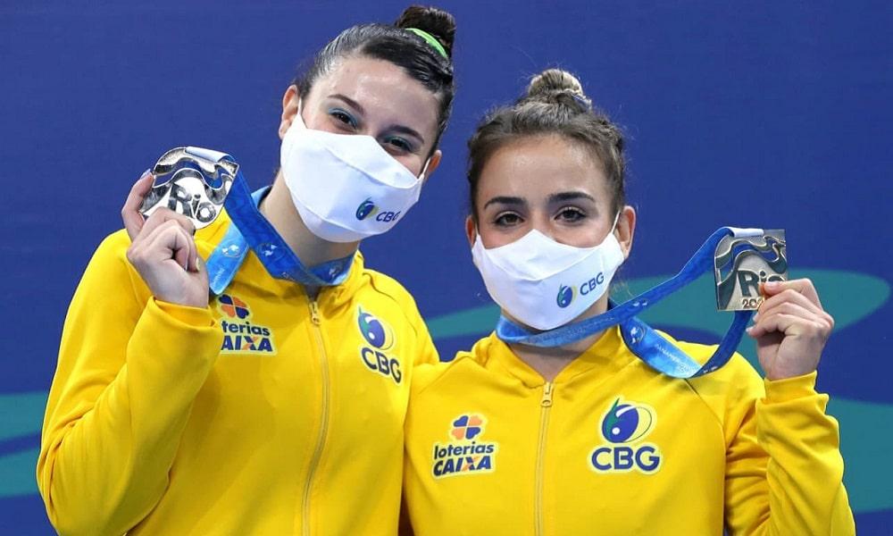 Camila Gomes e Ingrid Maior Pan-Americano de Ginástica ginástica de trampolim