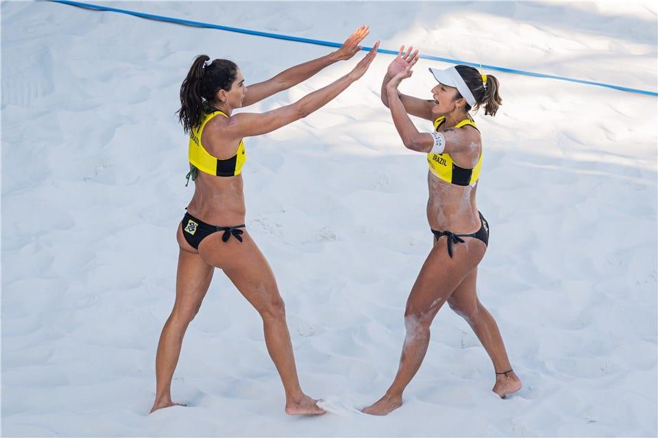 André /George - Bárbara/Carol Solberg - Ágatha/Duda - Circuito Mundial de vôlei de praia