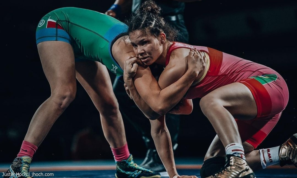 Laís Nunes - Aline Silva - Aberto da Polônia de wrestling
