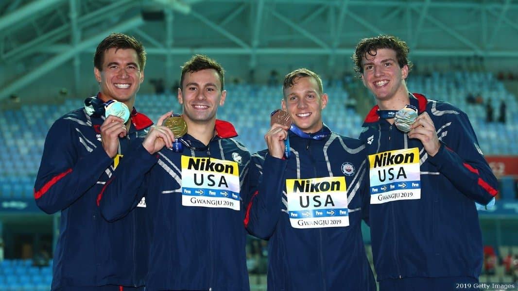 Revezamento 4 x 100m livre EUA - 4 x 100m livre masculino - Natação - Jogos Olímpicos Tóquio 2020