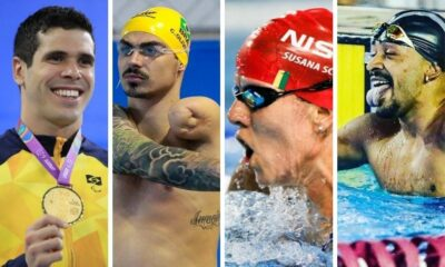 Quarteto classificado para a Paralimpíada natação